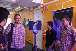 Mid Pacific Institute's LiDAR scanner at LAVA